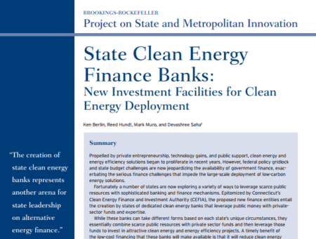 State Clean Energy Finance Banks – New Investment Facilities for Clean Energy Deployment