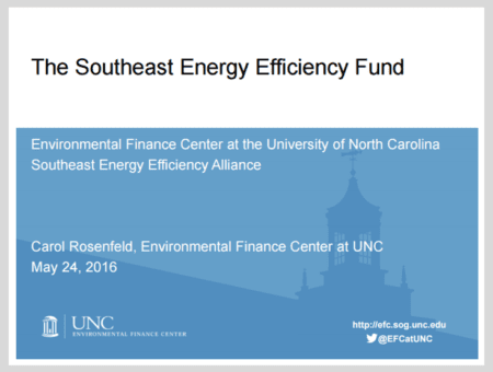 The Southeast Energy Efficiency Fund