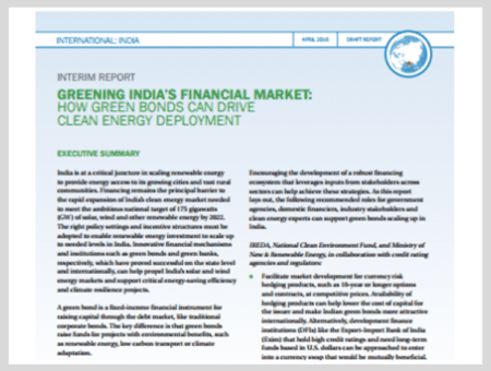 How Green Bonds Can Drive Clean Energy Deploymentin India