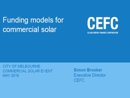 CEFC Funding Models for Commercial Solar