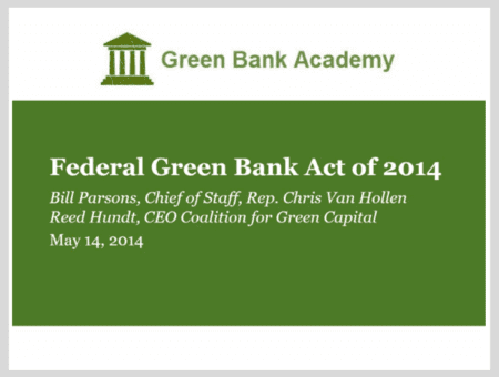 Blueprint for Efficiency – Federal Green Bank Act of 2014