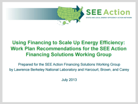 Using Financing to Scale Up Energy Efficiency