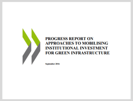 Progress Report on Approaches to Mobilising Institutional Investment for Green Infrastructure
