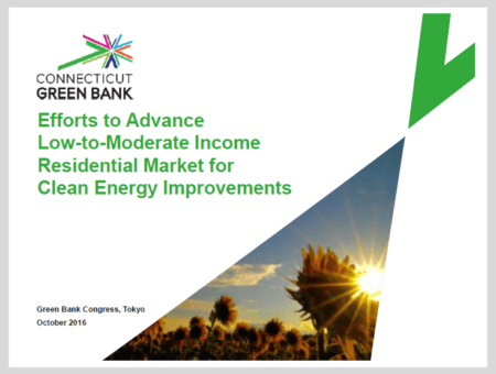Efforts to Advance Low-to-Moderate Income Residential Market for Clean Energy Improvements