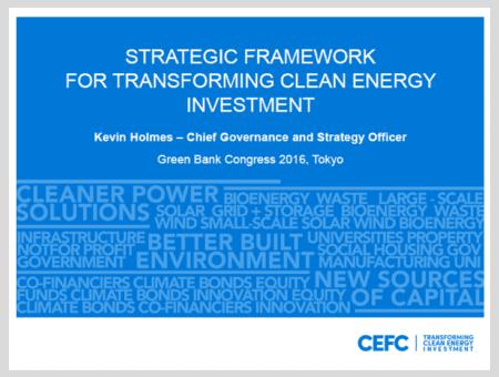 Strategic Framework for Transforming Clean Energy Investment