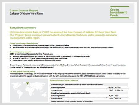 Green Impact Report: Galloper Offshore Wind Farm (UK)