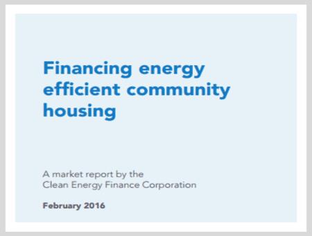 Financing energy efficient community housing