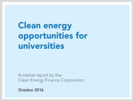 Clean Energy Opportunities for Universities