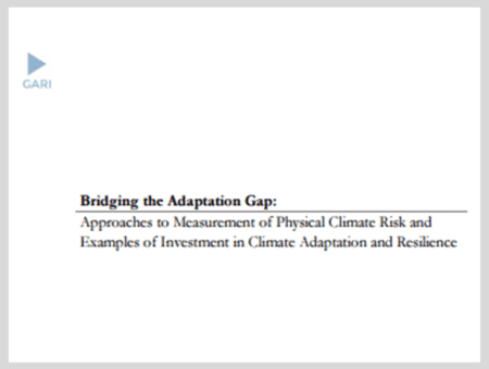 Approaches to Measurement of Physical Climate Risk and Examples of Investment in Climate Adaptation and Resilience