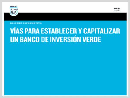 Vías para establecer y capitalizer un banco de inversión verde – Resumen informativo