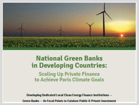 National Green Banks in Developing Countries: Scaling Up Private Finance to Achieve Paris Climate Goals