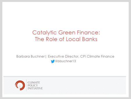 Catalytic Green Finance: The Role of Local Banks