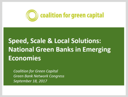 Speed, Scale & Local Solutions: National Green Banks in Emerging Economies