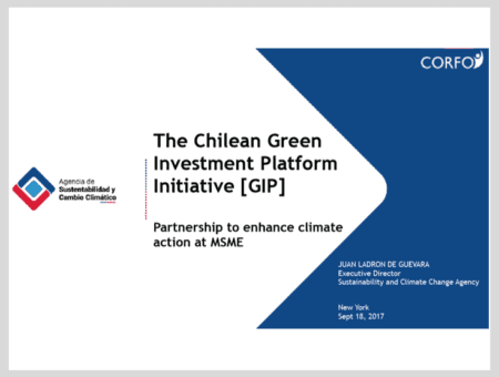 The Chilean Green Investment Platform Initiative: Partnership to enhance climate action at MSME