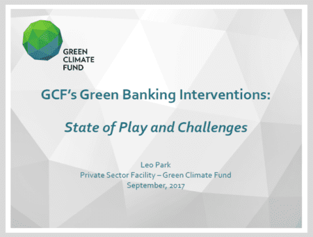 GCF's Green Banking Interventions: State of Play and Challenges