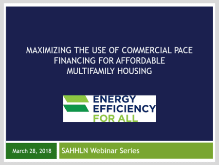 Maximizing the Use of Commercial PACE Financing for Affordable Multifamily Housing
