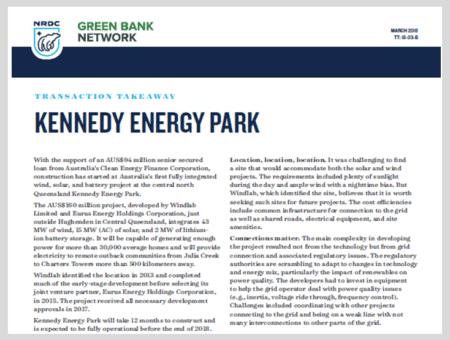 Transaction Takeaway: Kennedy Energy Park