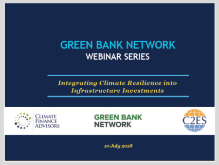 Integrating Climate Resilience into Infrastructure Investments