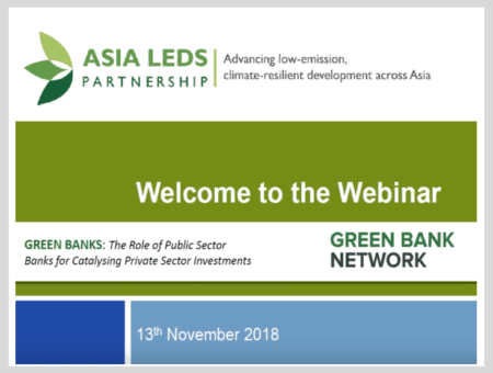 Green banks: The Role of Public Sector Banks for Catalysing Private Sector Investments
