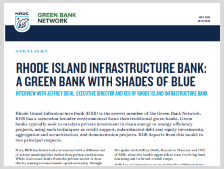 Rhode Island Infrastructure Bank: A Green Bank with Shades of Blue