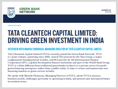 Tata Cleantech Capital Limited: Driving Green Investment in India